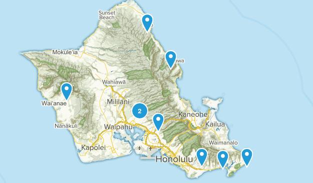Hawaii Hikes Map