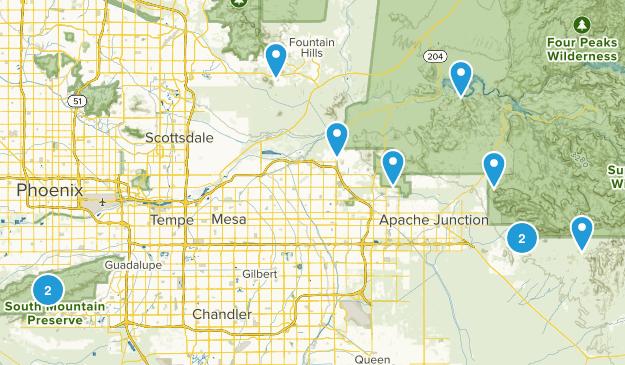 Phoenix Hikes Map