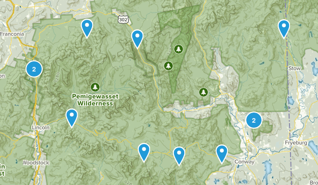 NH done hikes Map
