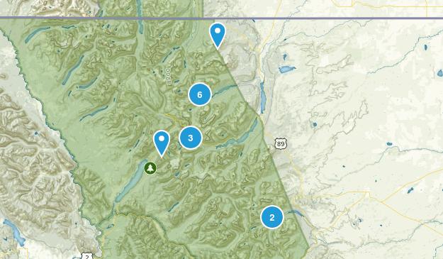 Glacier Hikes Map