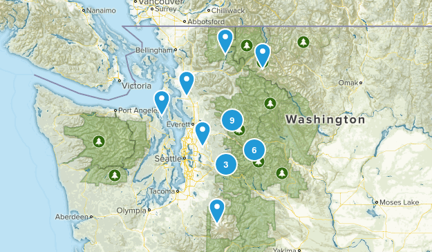 moderate hikes some hills  Map