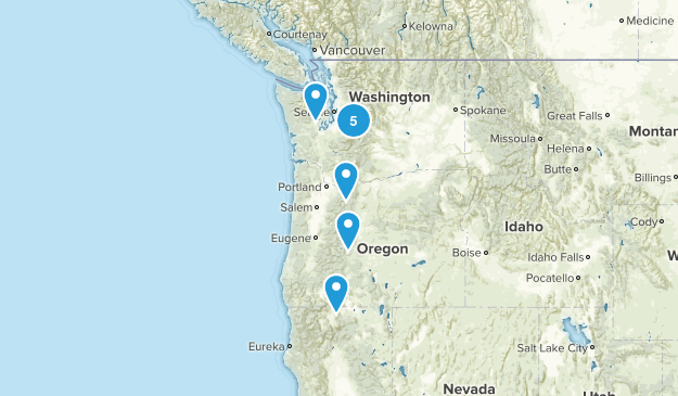 backpacking hikes Map