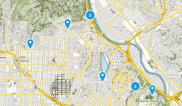 City Hikes Map