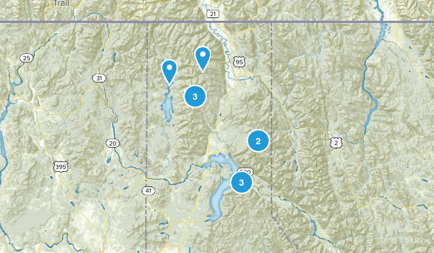 sandpoint area  Map