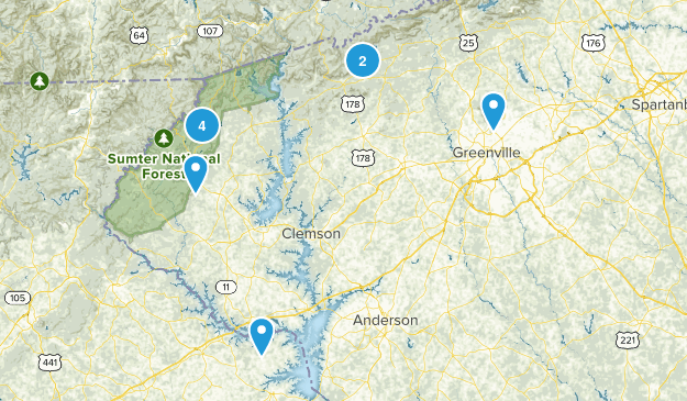Must Hike South Carolina Map