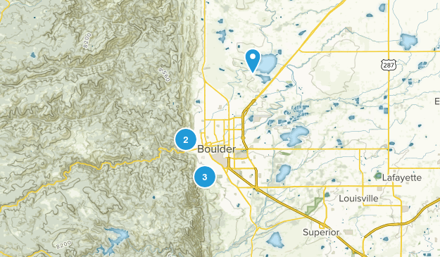 Hike in Boulder Map