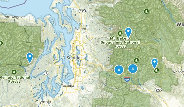 Lake Hikes Map