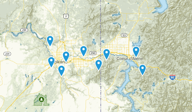 Hikes to go on Map