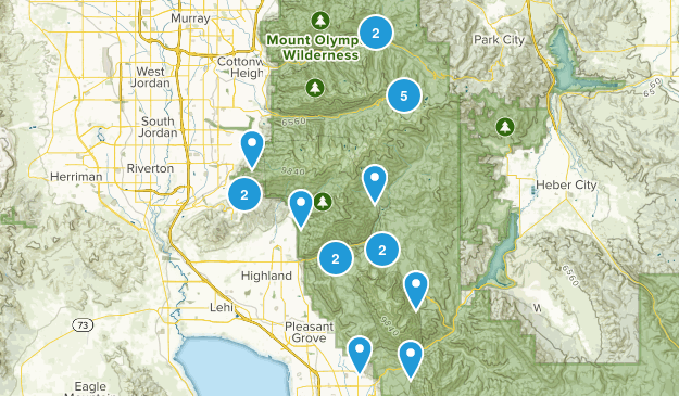 21 Hikes Map