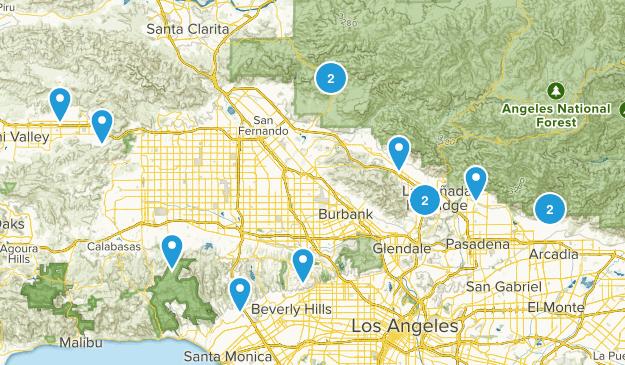 Weekday Hikes Map