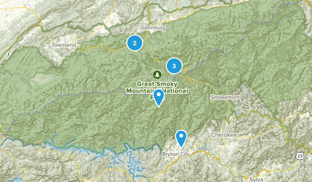 smokey mountains  Map
