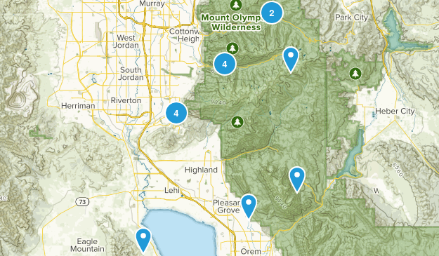 date hikes Map