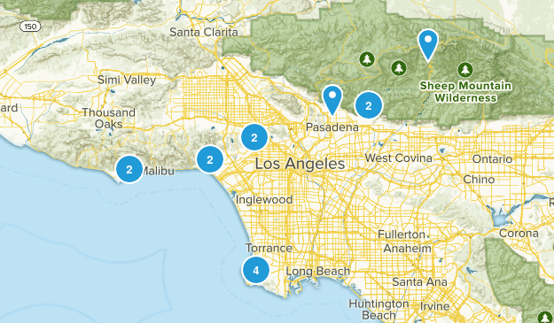 LA County Hikes Map