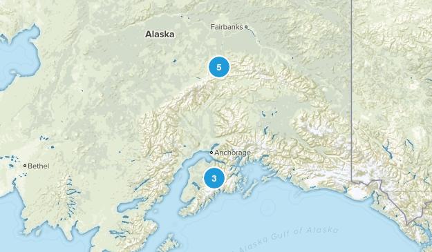 Alaska Trip Map