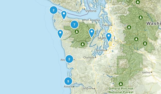 Washington Hikes Map