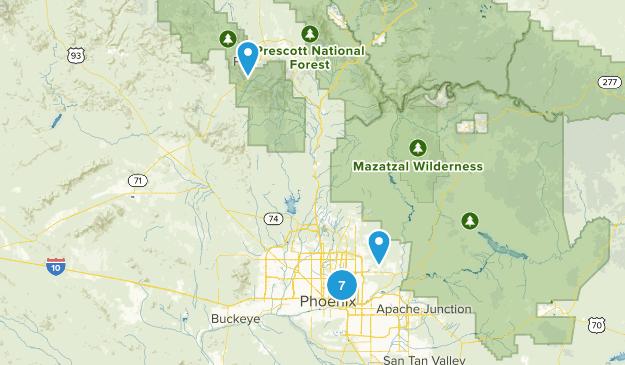 Hikes near Phoenix Map