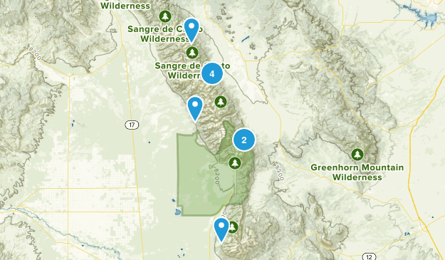 Westcliffe Area Map