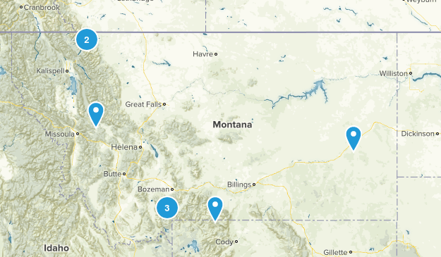 10 MT Hikes to Unforgettable Places Map
