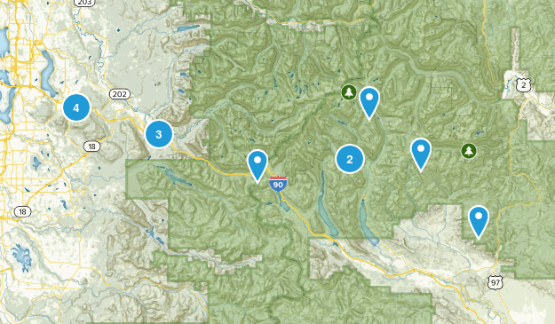 I-90 Hikes Map
