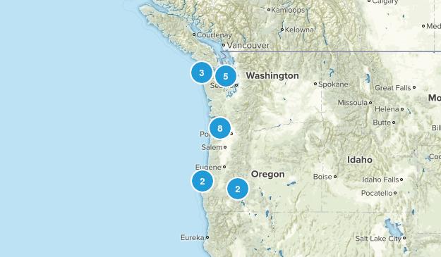 Oregon & Washington Map