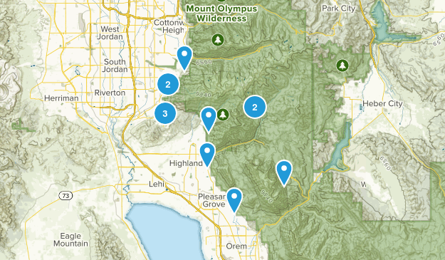 Hikes With Meagan Map