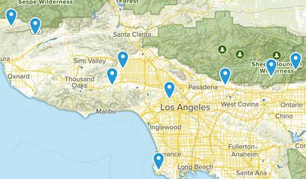 LA Area Trails (Diff/Dog) Map