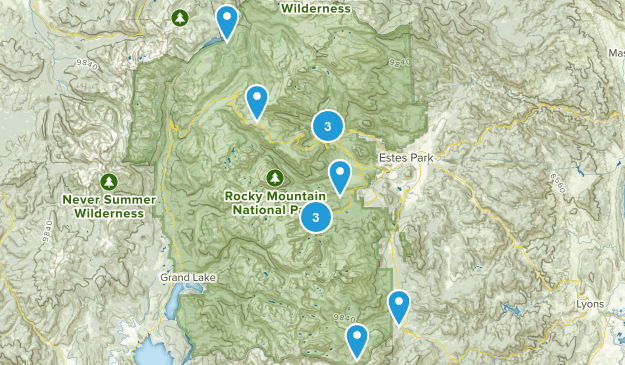 Places to go -RMNP Map
