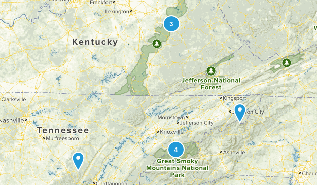 Smokey Mountains Trip Map
