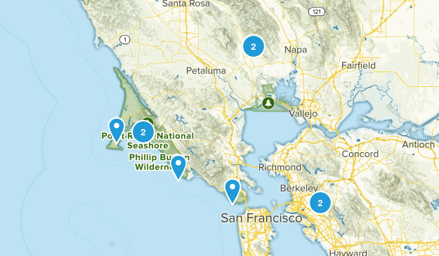 bay area hikes Map