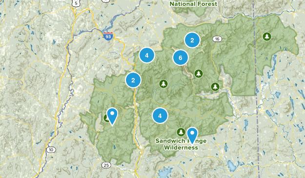 White Mountains 48 Map