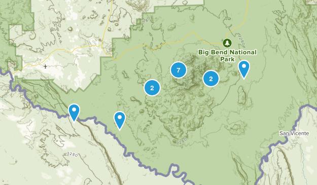 Big Bend Wildflowers Map