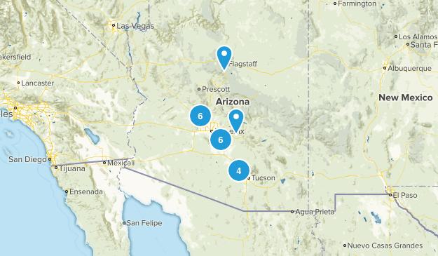 AZ. Hikes Map