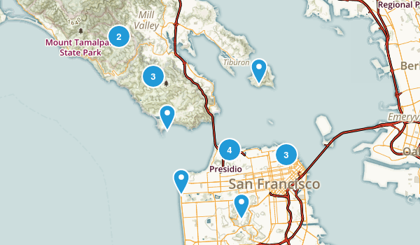 Weekly Hikes Map