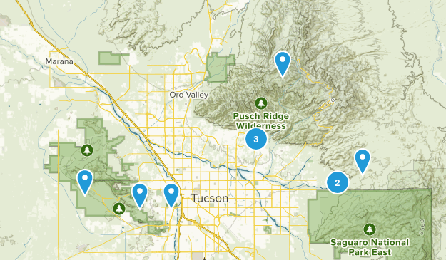 Tucson Hikes - To Do Map