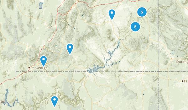 Southern Utah Trip Map