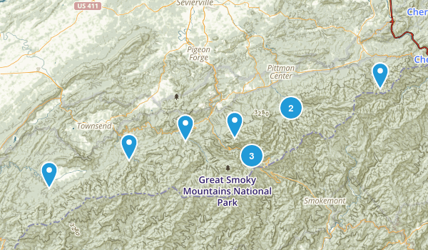 Smoky Mountains Trip Map