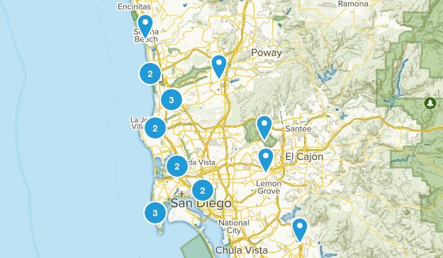 San Diego Hikes Map