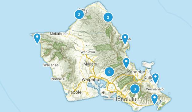 March 2017 Oahu  Map