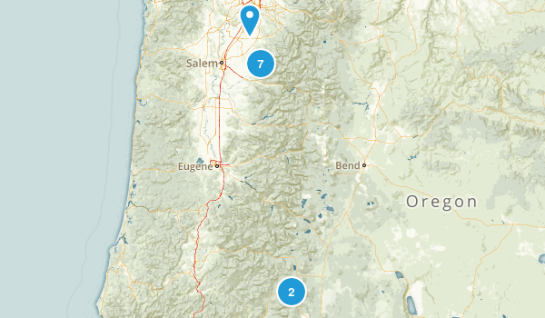 Oregon Trails Map