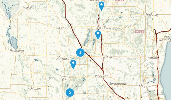 Near Slinger Map