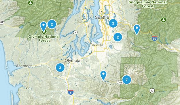 wa hikes Map