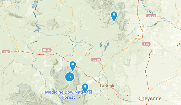 SE Wyoming Map