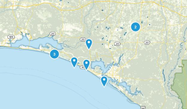 Panama Beach Map