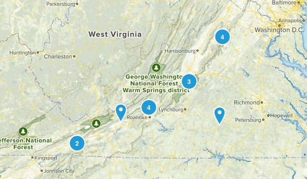 Virginia Hikes Map