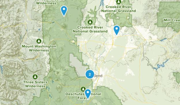 Bend Hiking Map