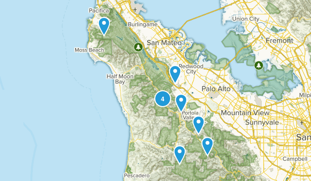 5 mile nearby hikes Map