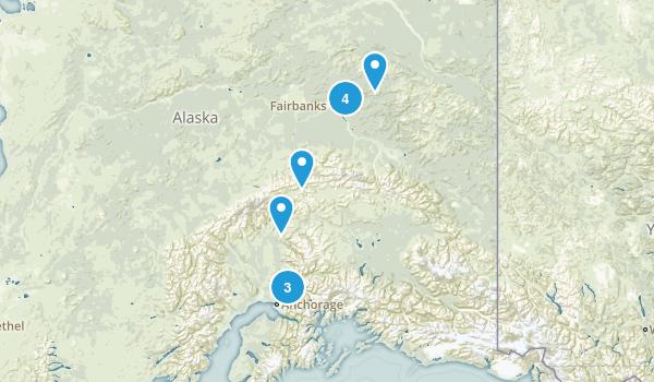 Alaska hikes done Map