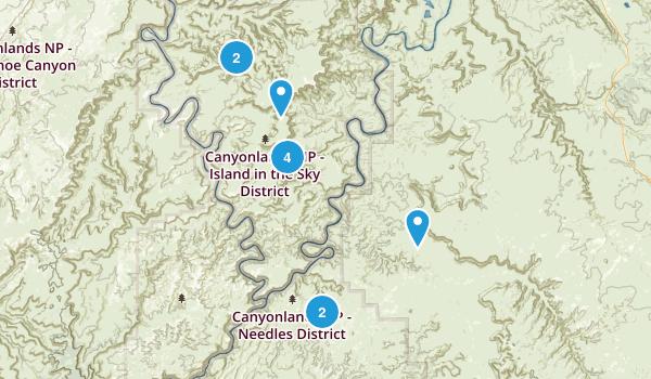 Canyonlands Trails Map