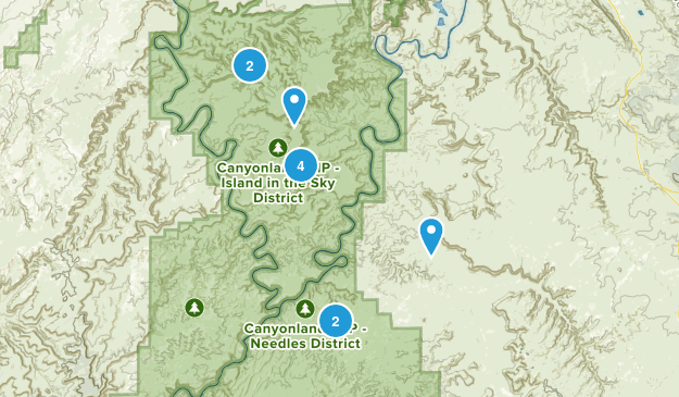 Canyonlands Trails Map