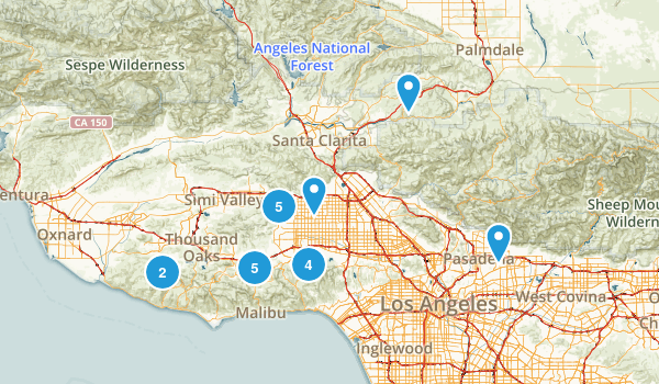 Nearby Hikes Map